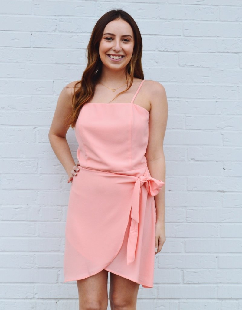 Delta Wrap Dress Coral