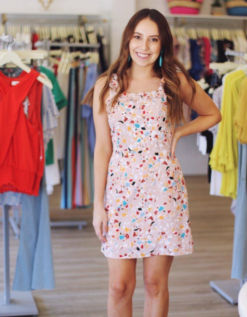 Lost + Wander Rosa Mini Dress Blush