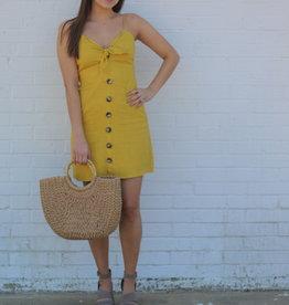 Linen Lady Dress Mustard