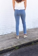 Side Contrast Seam Step Up Jean