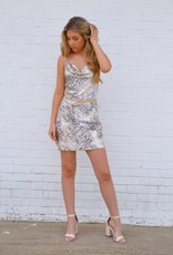 Not Your Poison Cowl Neck Dress Snake Print