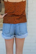 Cuffed Cutie Shorts Light Denim