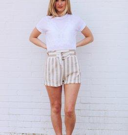 Latte Linen Shorts
