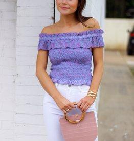 Shop Fletch Flirty Florals Top Lavender