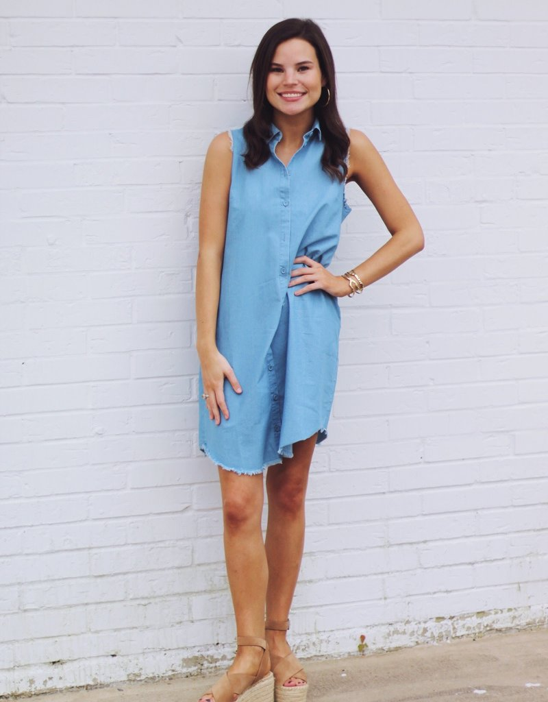 Shirt and Sweet Chambray Dress