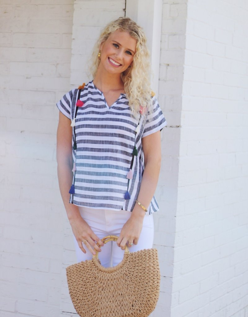 No Hassel Tassel Top