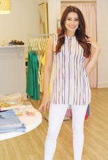 Violet & Claire Watercolor Stripe Tank