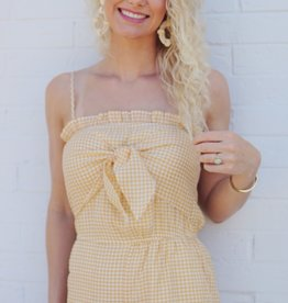 Lost + Wander Tiger Fan Romper Yellow