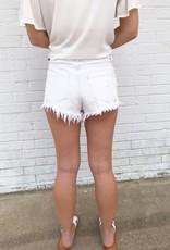 Cabo Denim Shorts White