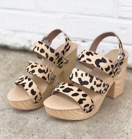 Chinese Laundry Flower Pony Cheetah Heel