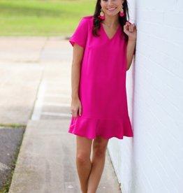 Flamingo Mama Dress Magenta