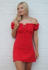Blue Blush Sangria Nights Dress Red