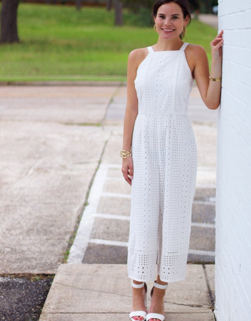 Adelyn Rae Forever and Always Jumpsuit White