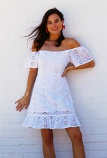Mink Pink All Your Own Dress White