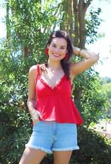 Mink Pink Laurel Cami Red