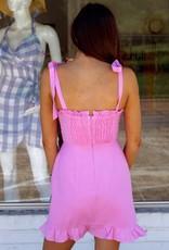 Lost + Wander Guava Ruffle Dress
