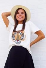 Sparkle City White Tiger Face Tee
