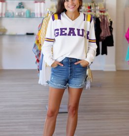 Sparkle City GEAUX Sweatshirt White