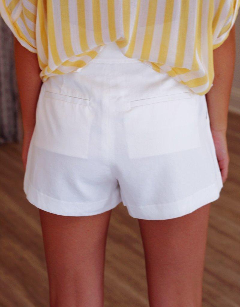 Shop Fletch Greek Island Shorts White