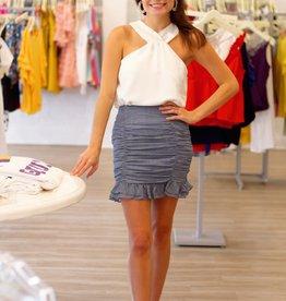 Mini Mojito Rouched Skirt