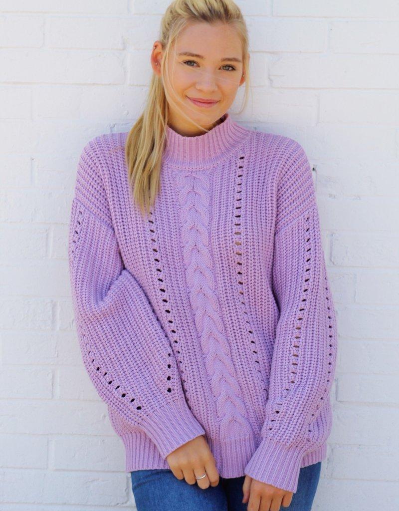 Lost + Wander Lavender Latte Sweater