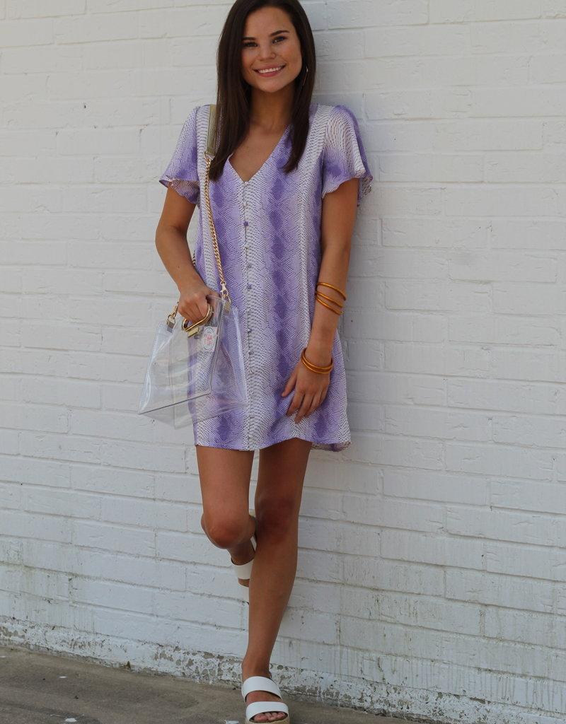 Buddy Love Hailey Dress Purple Snake