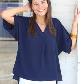 Navy Lady Top