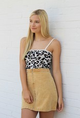 Mink Pink City Cat Cami Leopard