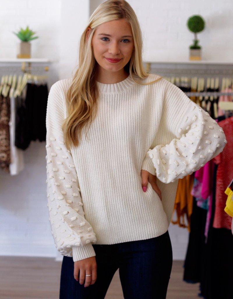 Mustard Seed Dottie Sweater Off White