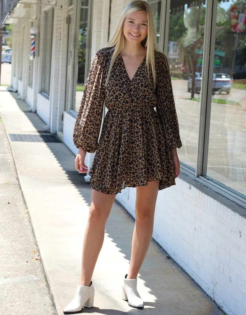 Central Station Dress Leopard