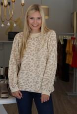 Snow Leopard Sweater Cream