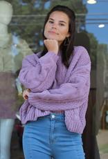 Azalea Crop Sweater Lavender