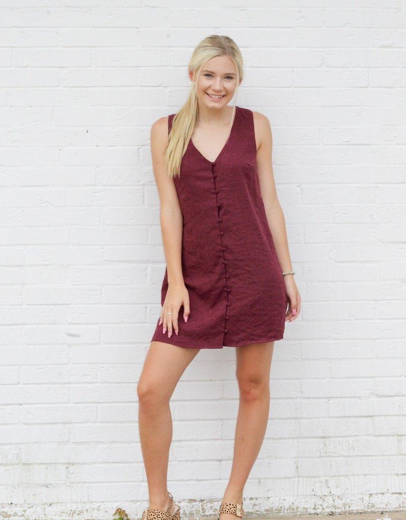 Burgundy Baby Dress
