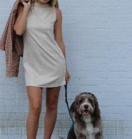Lyla Suede Mock Neck Dress
