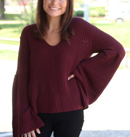 Buddy Love Viera Bell Sleeve Sweater