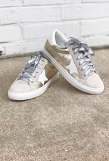 m&z Gold Star Sneakers