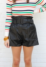 River Leather Shorts