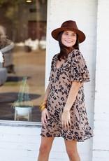 Louisianimal Dress Tan