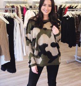 Camo Me Baby Sweater