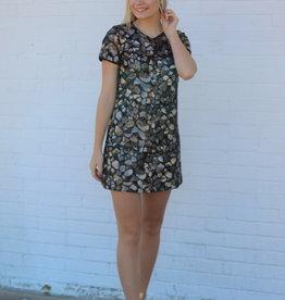Line and Dot LD4175B Nina Mini Dress Gold