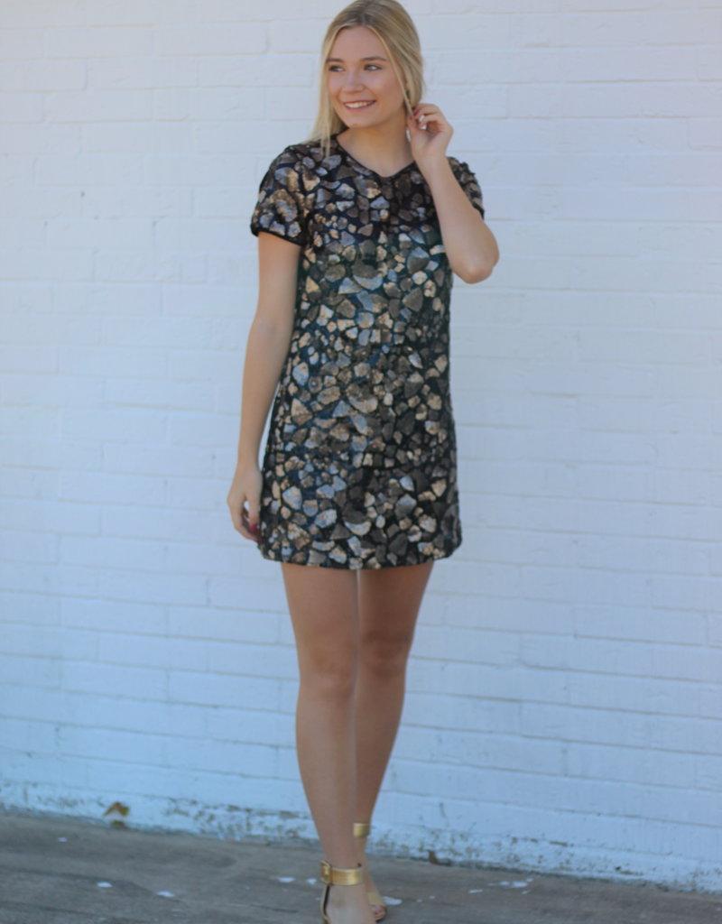 Nina Mini Dress Gold