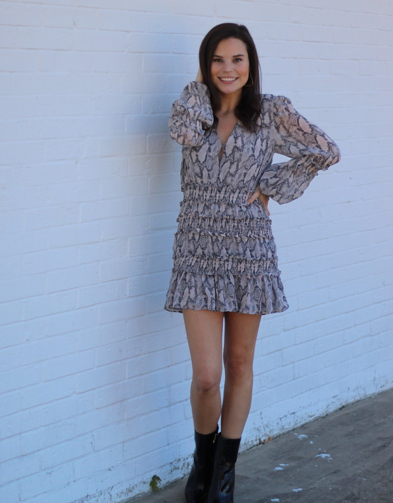 Blush Snakeskin Mini Dress
