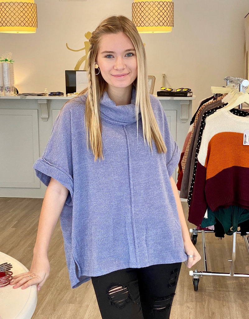 hailey & co Blue For You Poncho