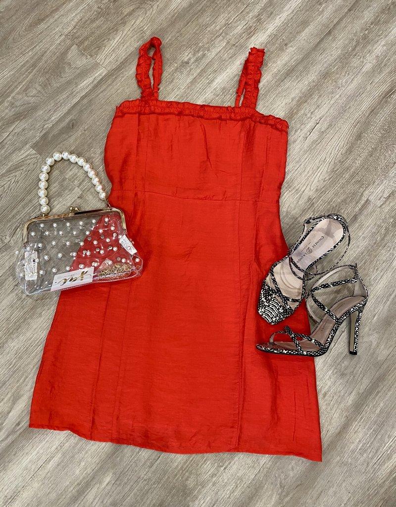 Story To Tell Dress Poppy