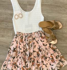 Mink Pink Wild Leopard Skirt