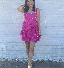 Buddy Love Buddy Love Eva Pink Stars Dress