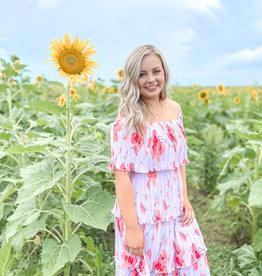 Floral Fields Midi Dress