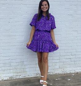 Buddy Love Buddy Love Ray Ultraviolet Dress