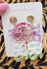 TIGERS Iridescent Earring