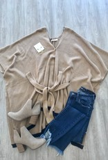 Courtney Belted Poncho Tan
